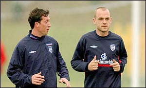 Danny Murphy (right) injured his foot in training