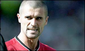 An angry Roy Keane