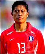 South Korea midfielder Lee Young-Pyo