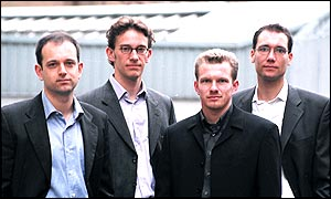 From left to right: Pamir Gelenbe, Lars Becker, Thomas Schuster and Carsten Boers