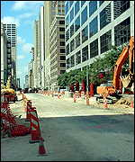 Downtown Houston under construction