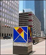 Dynegy logo on the streets of Houston