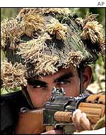 Indian soldier in Kashmir