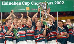 Leicester become the first side to win the Heineken Cup twice