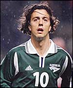 Slovenia's star player Zlatko Zahovic