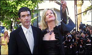 Antonio Banderas and American actress Melanie Griffiths