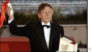 Polanski shows off the Palme d'Or