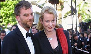 Anderson with the British co-star of his film Punch Drunk Love, Emily Watson