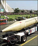 Iran's Shahab-3 missile on show