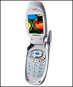 A Samsung T100 mobile phone