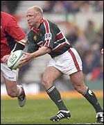 Neil Back during the Heineken Cup final