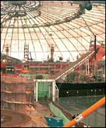 The Dome under construction