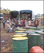 Oil drums in Madagascar