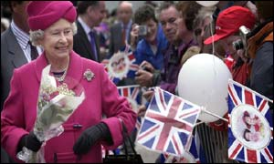 Queen Elizabeth II meets well wishers in the streets of Wick