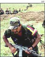 Farc guerrillas training
