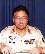 President Musharraf in his TV address