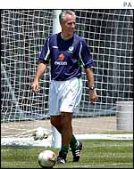 Mick McCarthy at Ireland's training camp in Izumo, Japan