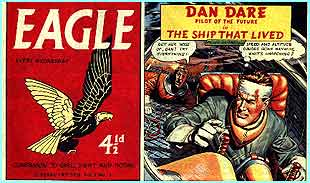 ...and crazy for action and adventure with Dan Dare in the Eagle comics