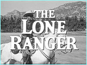 The Lone Ranger was a favourite TV show, starring Clayton Moore as the masked good guy on his horse, Silver