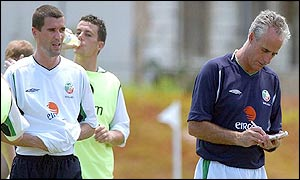 Roy Keane and Mick McCarthy before their split