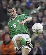 Ireland's Roy Keane against Nigeria