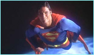 Superman flew into cinemas, played by Christopher Reeve