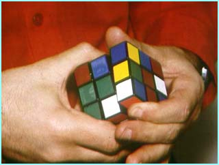 Everyone got themselves in a twist trying to match the colours in Rubik's Cube