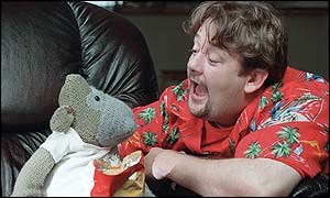 Monkey (left) starred in TV ads with Johnny Vegas