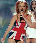 Ginger Spice is her Union Jack dress