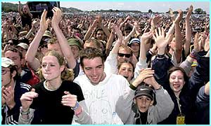 Crowds at Glastonbury