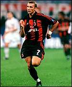 Andrei Shevchenko is AC Milan's star striker