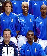 Desailly (front left) says the future is in safe hands