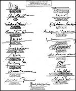 Agreement signed by 20 leaders