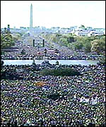 The Million Man March in Washington