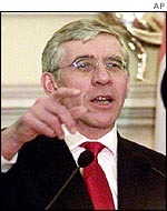 UK Foreign Secretary Jack Straw