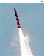 The Abdali short range ballistic missile