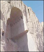 Bamiyan Buddha site after destruction of the statues