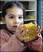 girl with 1,000 beads