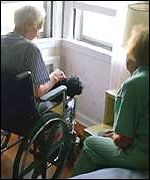 Patient being cared for at home