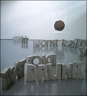 Installation at Dundee Contemporary Arts 2002; photo courtesy Frith Street Gallery, London