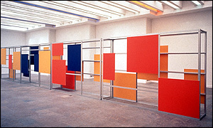 Consultation Partition 2000, by Liam Gillick: photo credit Courtesy Corvi - Mora, London