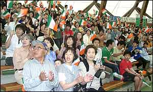 Ireland leave their base in Izumo