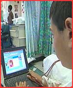 Children can look at the website from their hospital bed