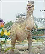Dinosaur and rides at Fantasy Kingdom