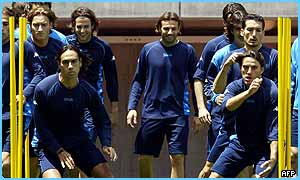 Italy in training