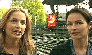 Caroline and Sharon Corr, from pop group The Corrs