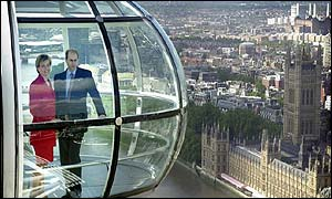 The Earl and Countess of Wessex on the London Eye to launch the festivities