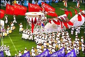 The opening ceremony was a fusion of colour and sound