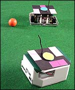 Robotic soccer requires teamwork