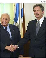 Ariel Sharon and William Burns